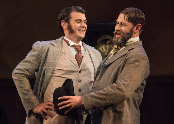 opera makeup two men smiling